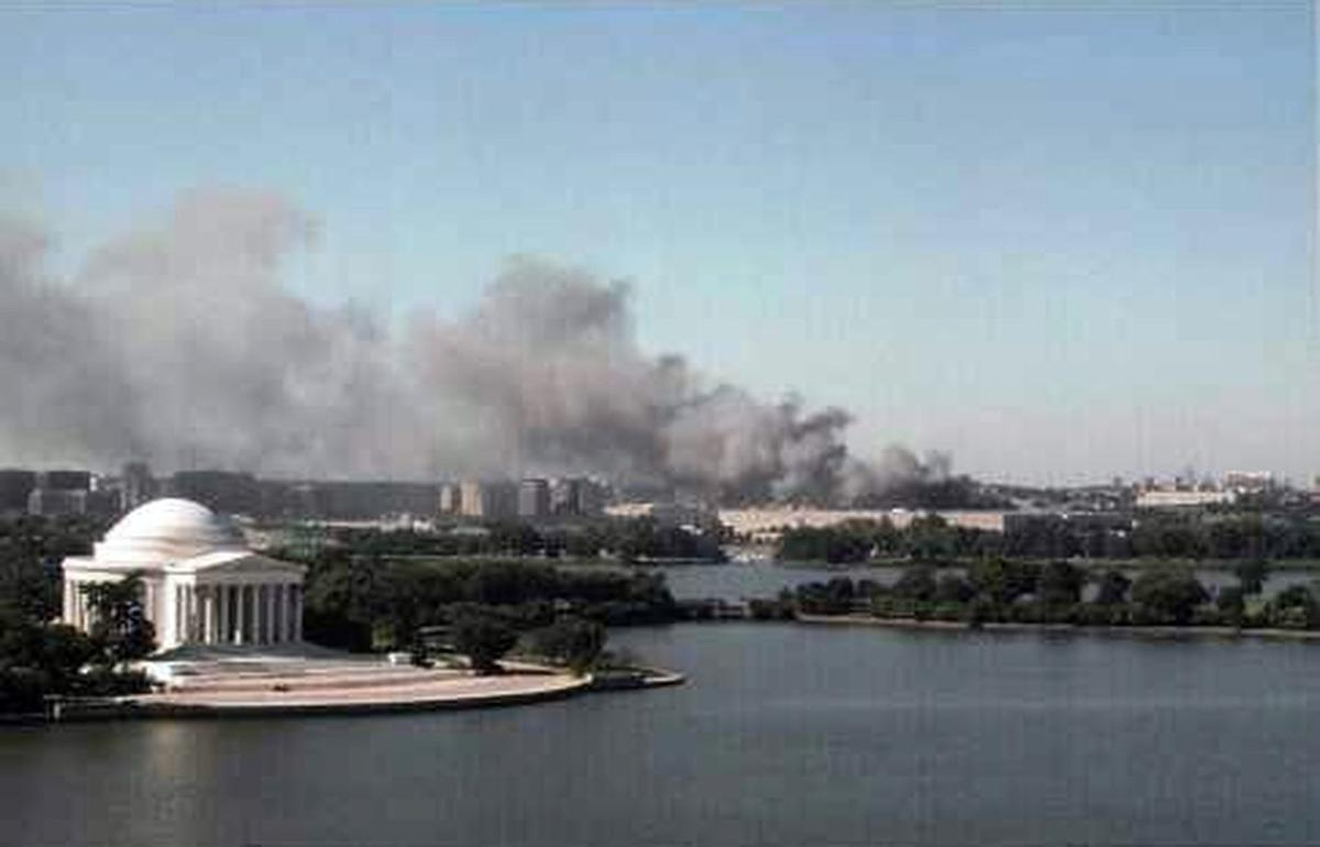 The Pentagon burns