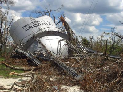 Arcadia water tower before