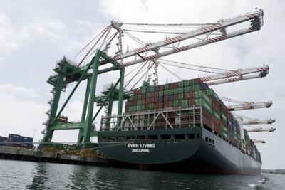 Docked ship