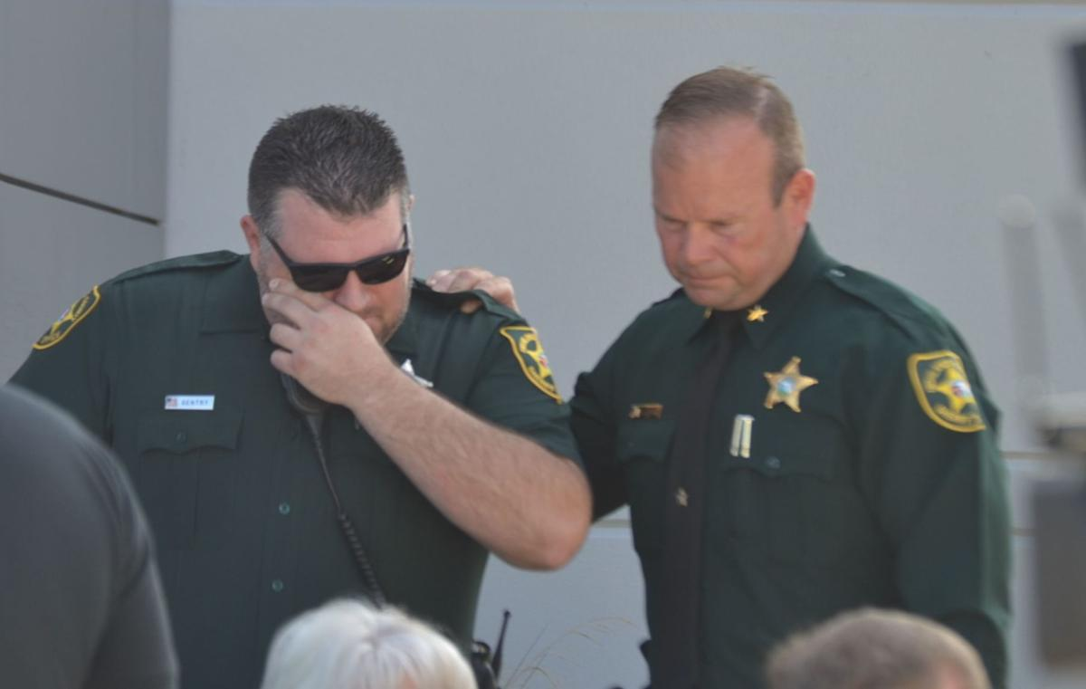 Deputy Kevin Gentry and Sheriff Paul Blackman