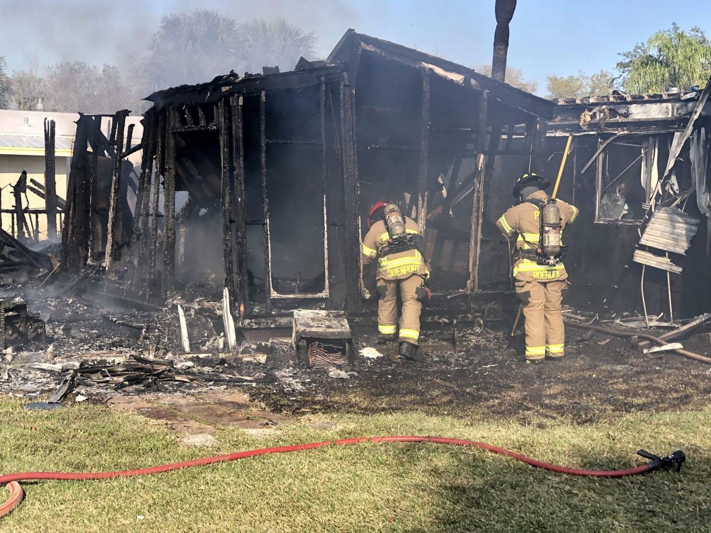 Charlotte County trailer fire