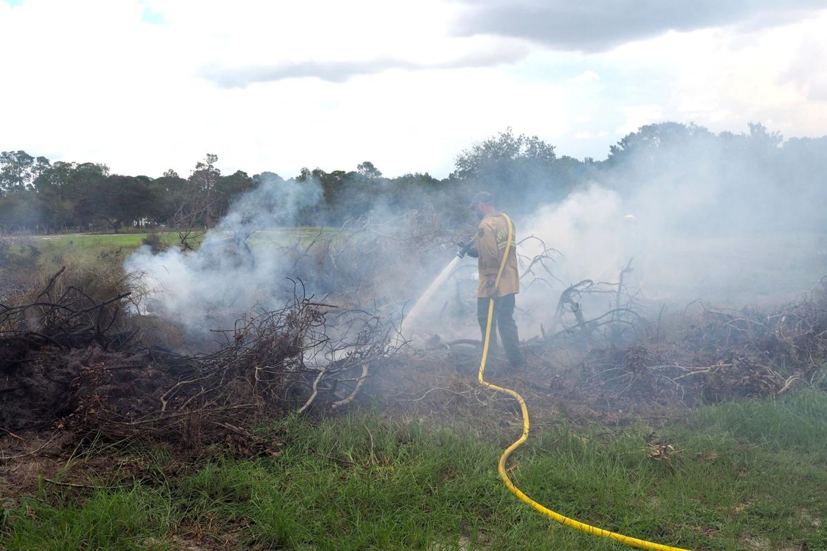 Brush fire at Camp Sparta