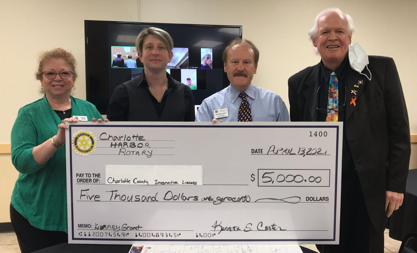 Charlotte Harbor Rotary donates to library
