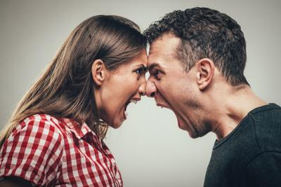Couple in conflict