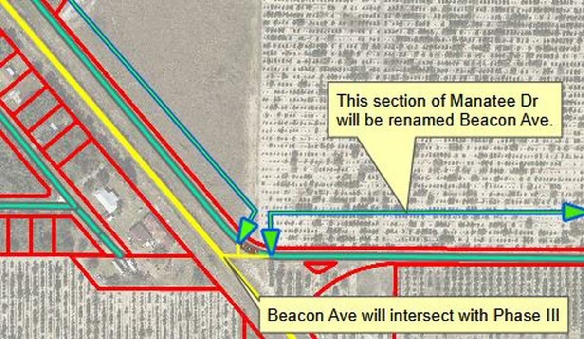 The map of Parkway and Beacon