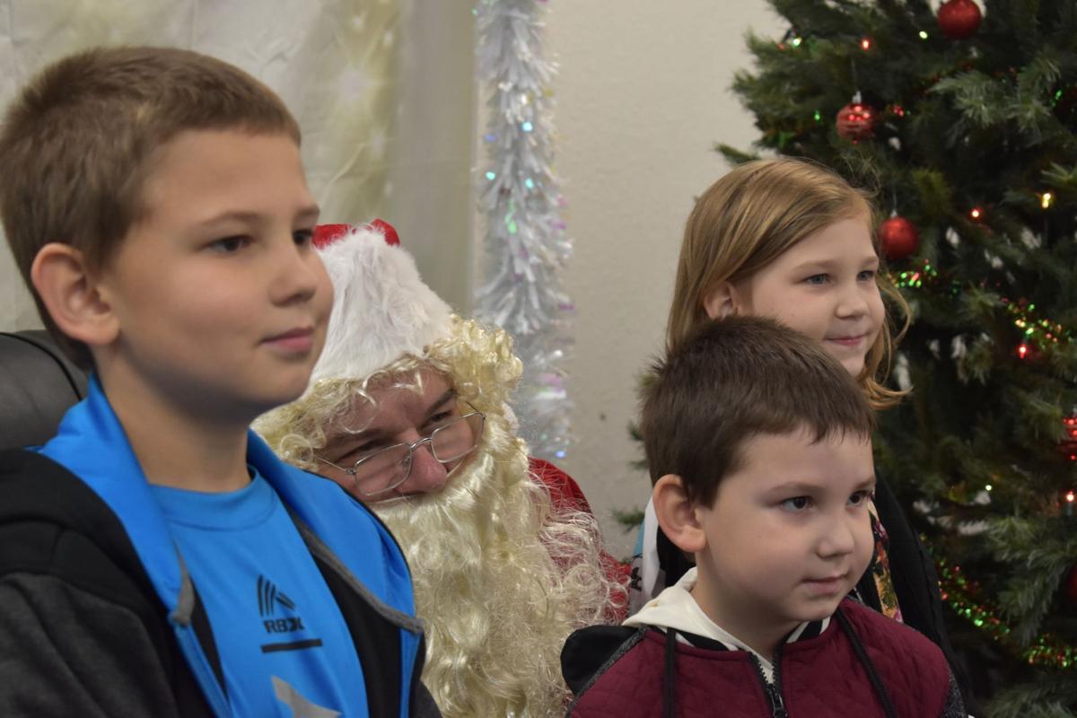 Santa and three wise children
