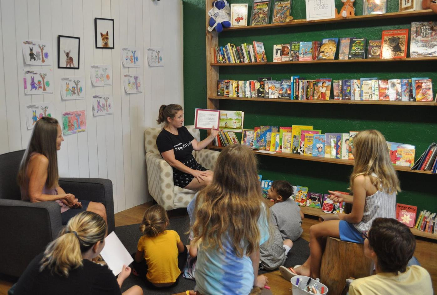 Author reading event at Fable Books
