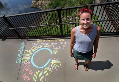 Chalk art creations popping up on Minneapolis sidewalks to encourage mental health breaks