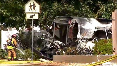 PHOTO: Plane crash in Santee, California, Photo Date: 10/11/2021