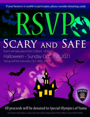 Yuma PD is hosting a 'Scary and Safe' Halloween Event