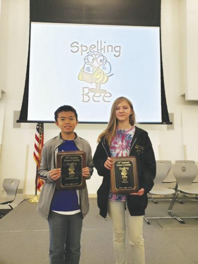 Local student rises to top at County Spelling Bee