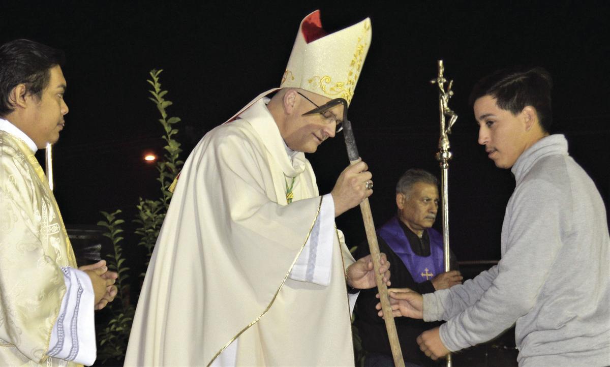 Parishioners bring offerings