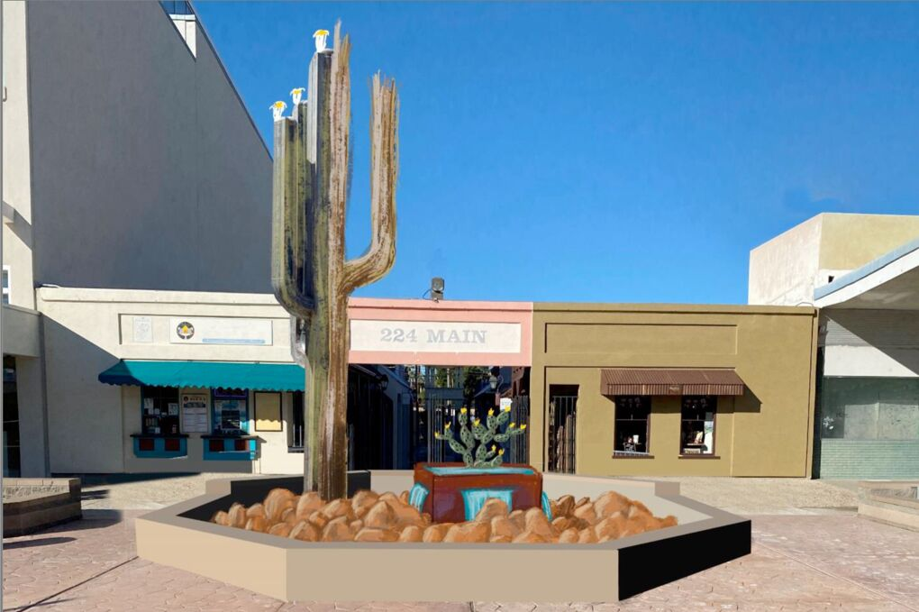 Cactus fountain to replace iconic downtown landmark