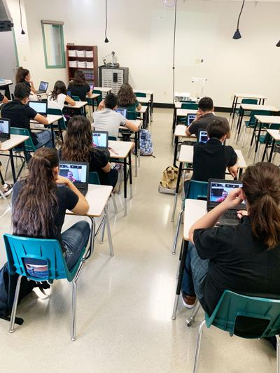 San Luis students taking remote-instruction class from online school