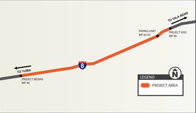 Plan for ramp closures on Interstate 8 near Dateland beginning today