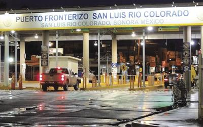 Traffic bound for Mexico will be limited at San Luis port beginning on Monday