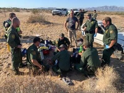 Border patrol car cash