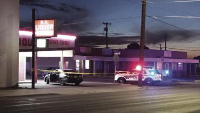 Man shot outside liquor store