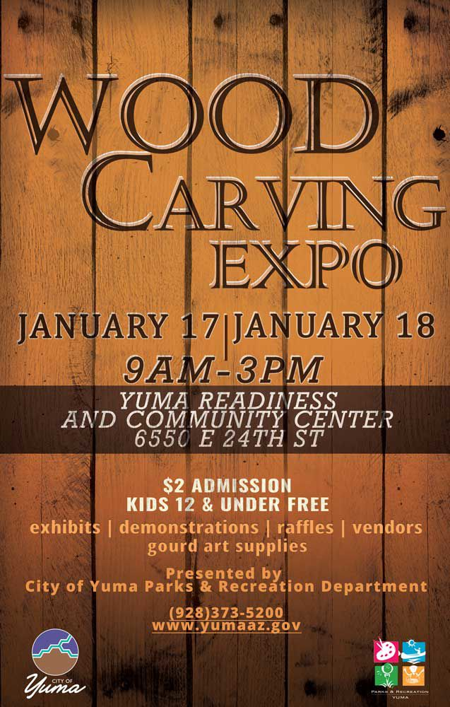 Logo 2020 Wood Carving Expo, City of Yuma Parks adn Recreation Deparment