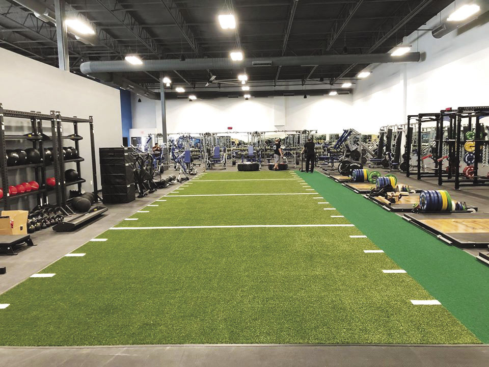 Interior of new 4th Ave. Gym Foothills