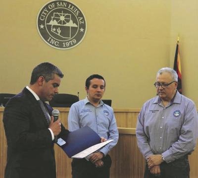 San Luis honored