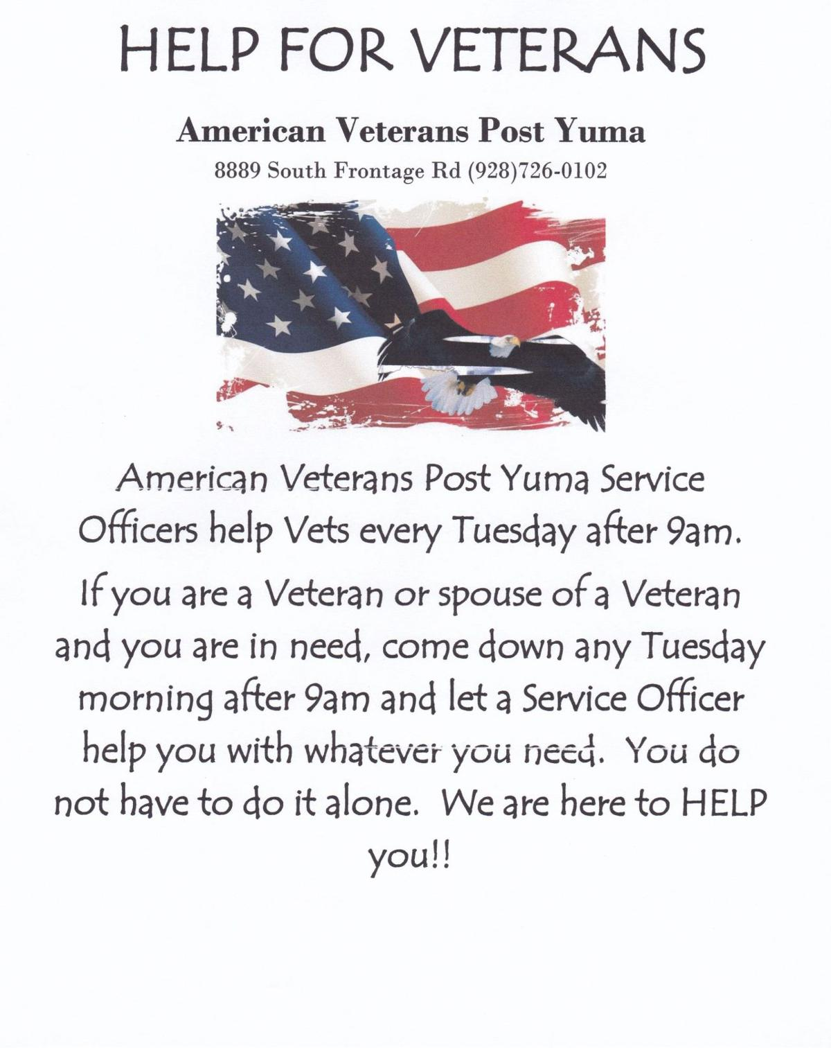 Tuesdays Help for Vets