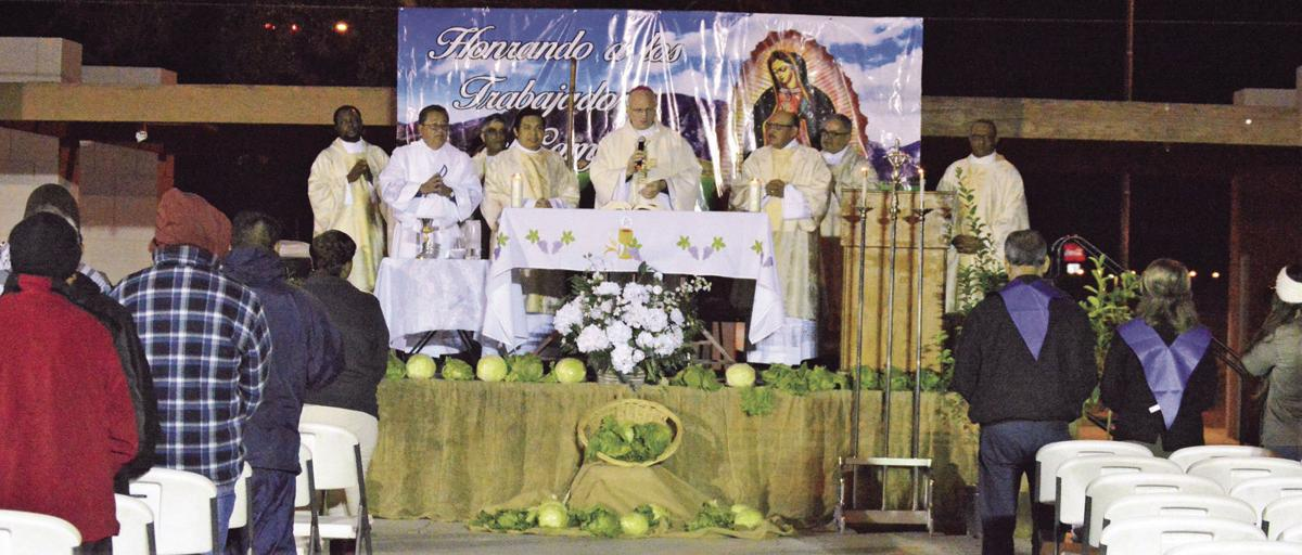 Tucson bishop leads early morning Mass