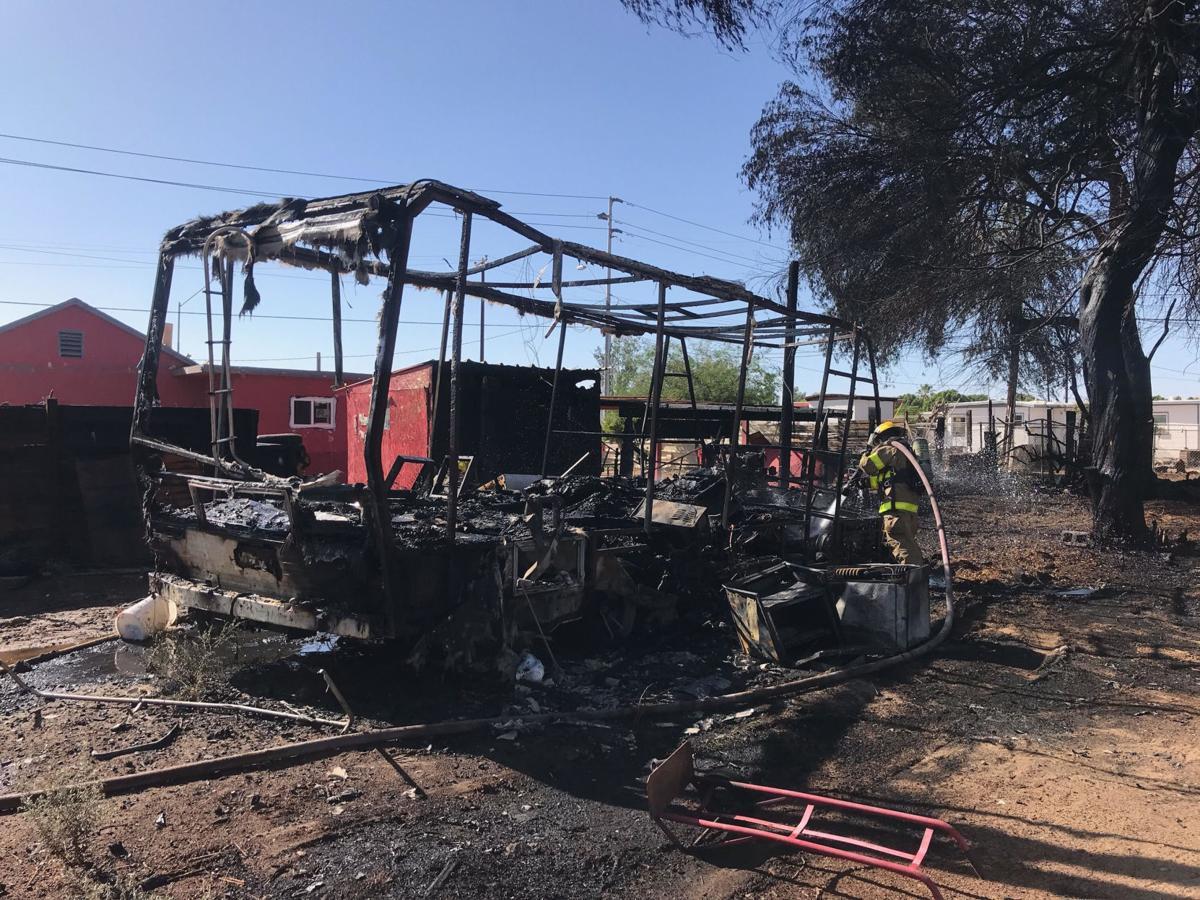 Motor home destroyed