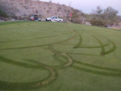 Golf course damaged