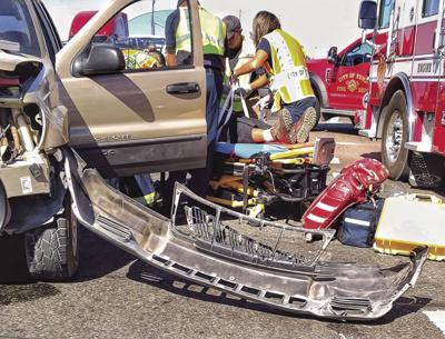 3-car crash near MCAS