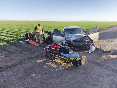 Driver seriously injured in crash with ag truck trailer