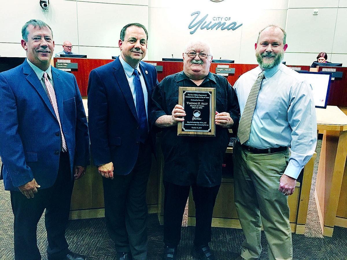 Honoring former Mayor Thomas F. Allt