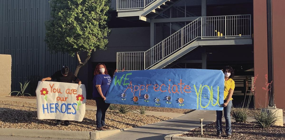 Crane staff 'cheers on' local healthcare providers at YRMC