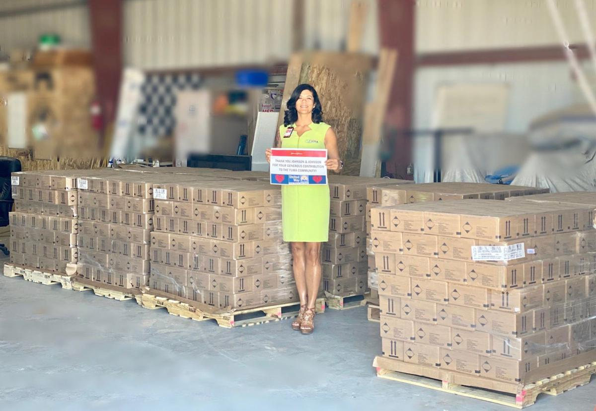 Emergency shipment donated by Johnson & Johnson in fight against COVID-19