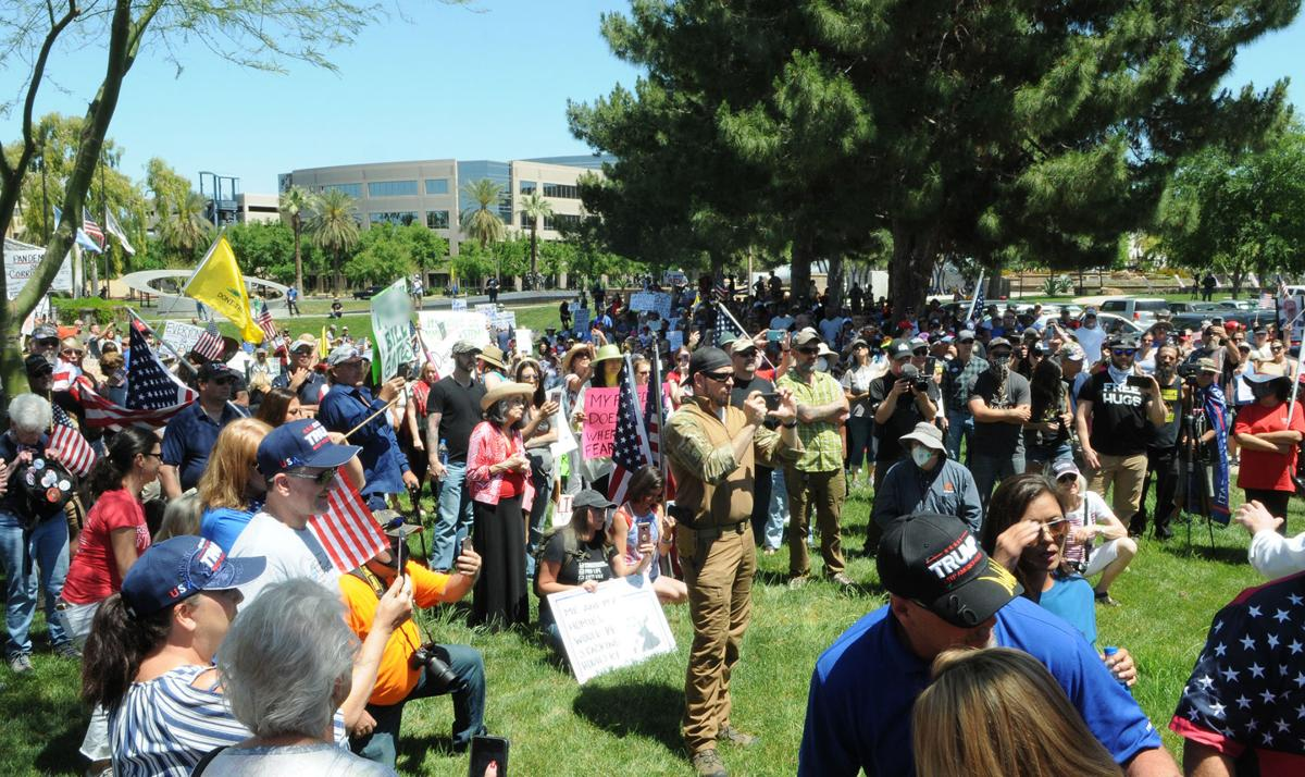Protesters gather at Capitol, object to Ducey's orders