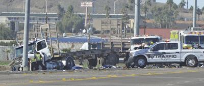 Teen killed in collision with semi