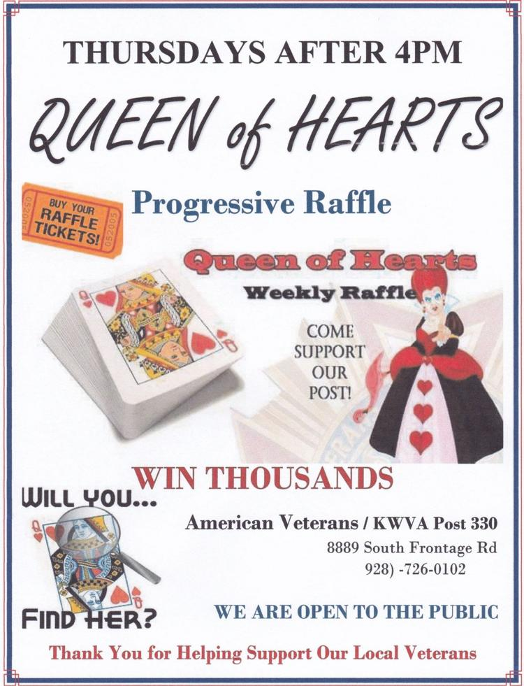 Thursdays Queen of Hearts Drawing